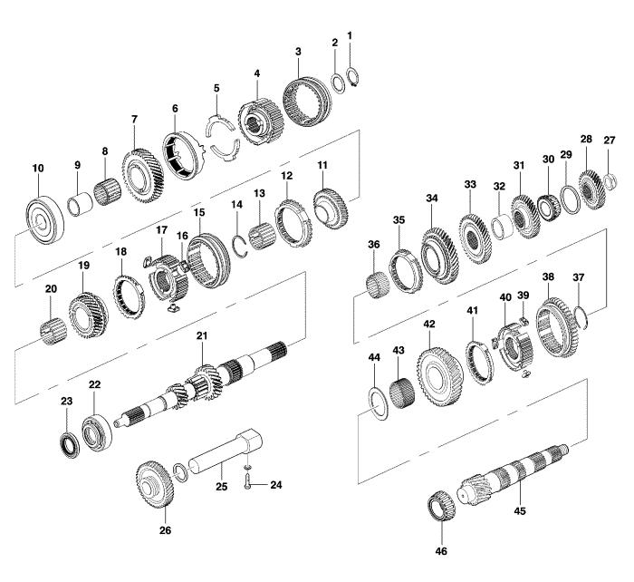 Кпп ваз 2123 ремонт схема